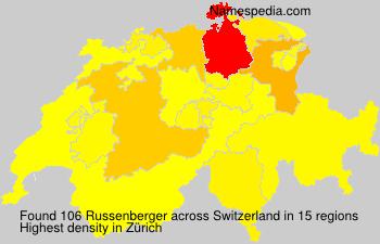 Surname Russenberger in Switzerland