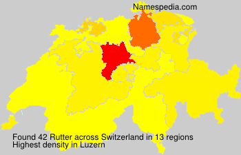 Surname Rutter in Switzerland