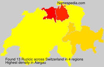 Familiennamen Ruzicic - Switzerland