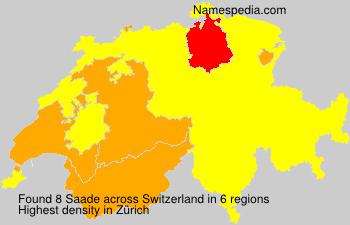 Familiennamen Saade - Switzerland