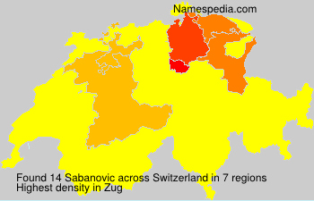 Surname Sabanovic in Switzerland