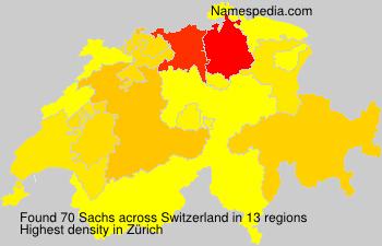 Familiennamen Sachs - Switzerland
