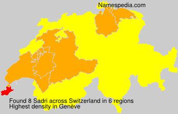 Surname Sadri in Switzerland
