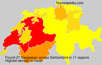 Surname Saegesser in Switzerland
