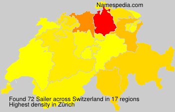 Surname Sailer in Switzerland