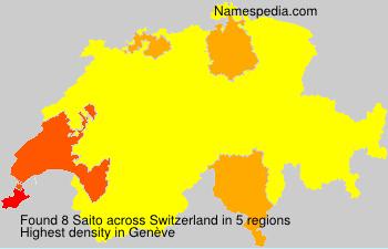 Surname Saito in Switzerland