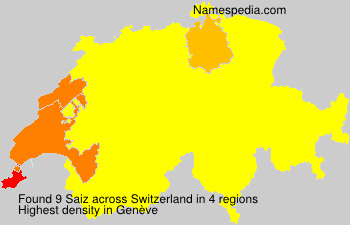 Surname Saiz in Switzerland