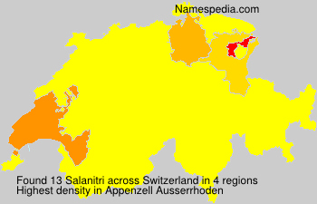 Surname Salanitri in Switzerland