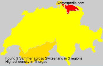 Surname Sammer in Switzerland