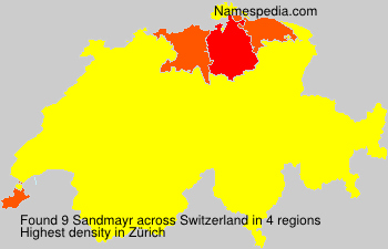 Surname Sandmayr in Switzerland