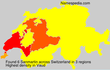 Familiennamen Sanmartin - Switzerland