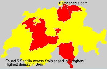 Surname Santillo in Switzerland