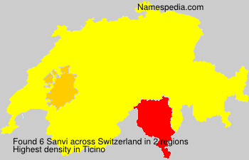 Surname Sanvi in Switzerland