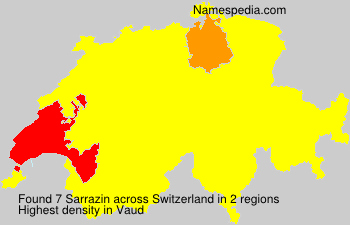 Surname Sarrazin in Switzerland