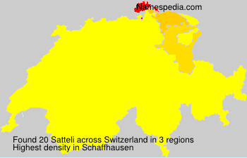 Surname Satteli in Switzerland