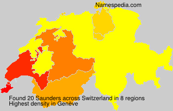 Familiennamen Saunders - Switzerland