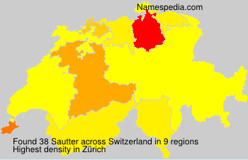 Familiennamen Sautter - Switzerland