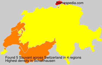 Surname Sauvant in Switzerland