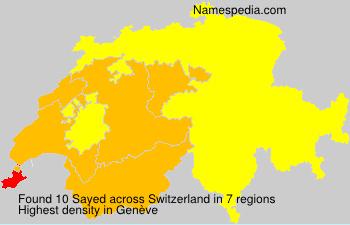 Surname Sayed in Switzerland