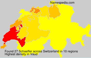 Surname Schaeffer in Switzerland