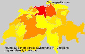 Familiennamen Scharf - Switzerland