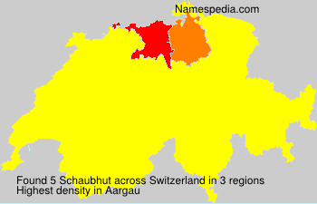 Surname Schaubhut in Switzerland