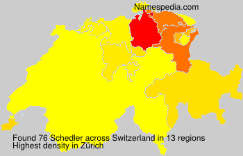 Surname Schedler in Switzerland