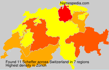 Surname Scheffer in Switzerland