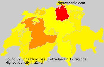 Familiennamen Scheibli - Switzerland