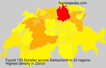 Surname Scheller in Switzerland