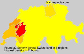 Familiennamen Scherly - Switzerland