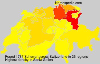 Surname Scherrer in Switzerland