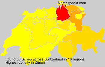 Surname Scheu in Switzerland