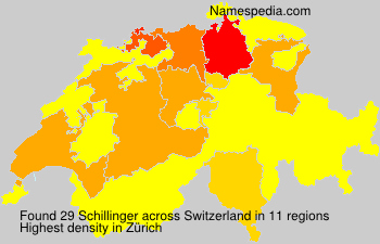 Surname Schillinger in Switzerland