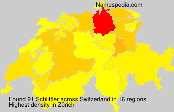 Surname Schlittler in Switzerland