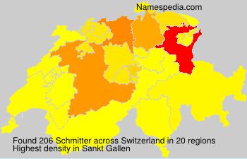 Surname Schmitter in Switzerland