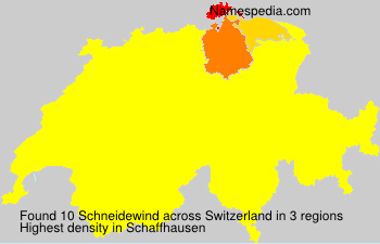 Surname Schneidewind in Switzerland
