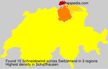 Familiennamen Schneidewind - Switzerland