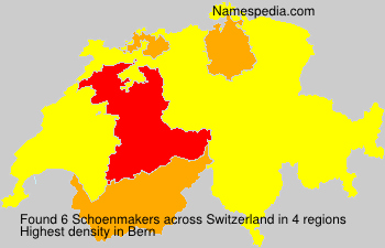 Surname Schoenmakers in Switzerland