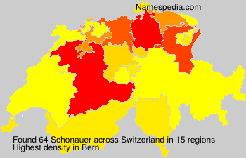 Surname Schonauer in Switzerland