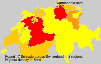 Surname Schrade in Switzerland