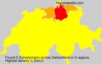 Surname Schretzmann in Switzerland