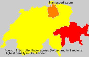 Surname Schrottenthaler in Switzerland