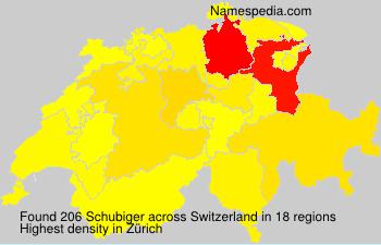 Surname Schubiger in Switzerland