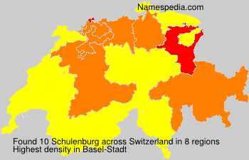 Surname Schulenburg in Switzerland