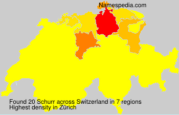 Surname Schurr in Switzerland