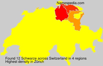 Surname Schwarze in Switzerland