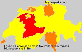 Surname Schweigert in Switzerland