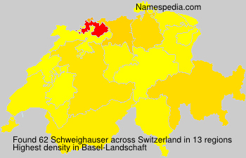 Surname Schweighauser in Switzerland