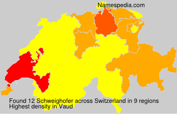 Surname Schweighofer in Switzerland